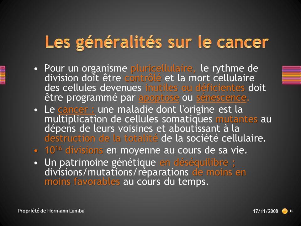 Les généralités sur le cancer