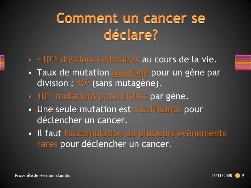 Comment un cancer se déclare