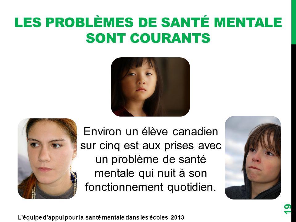 Les problèmes de santé mentale sont courants