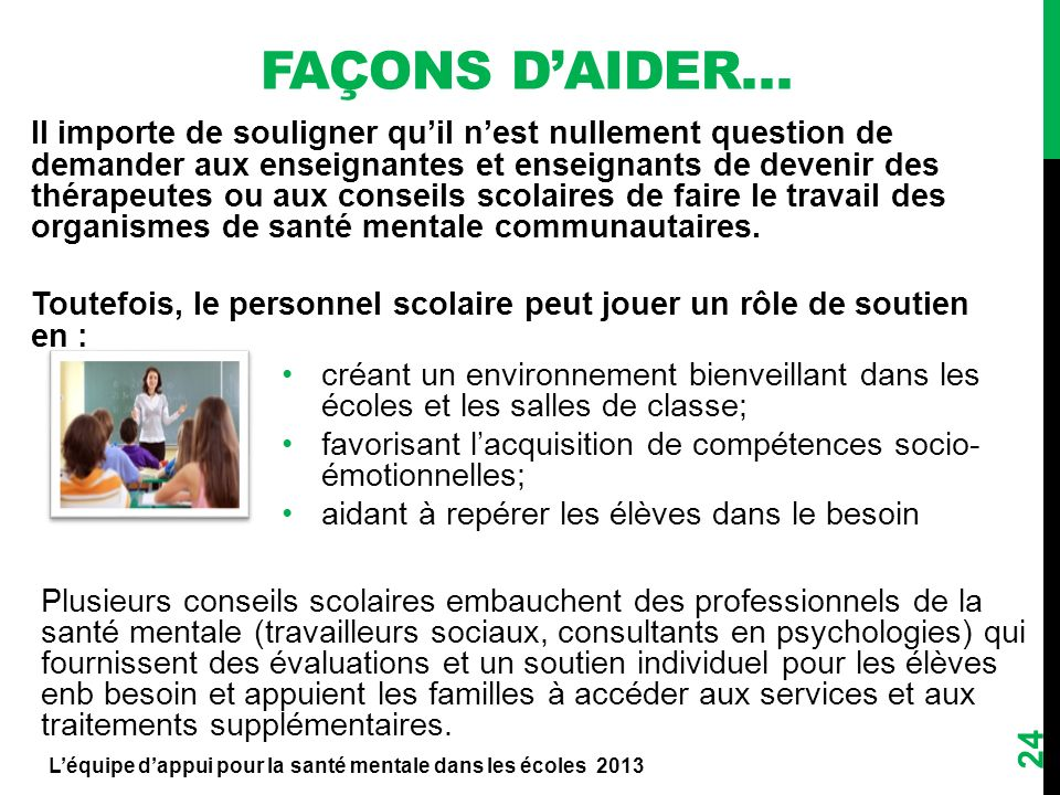 Façons d'aider…