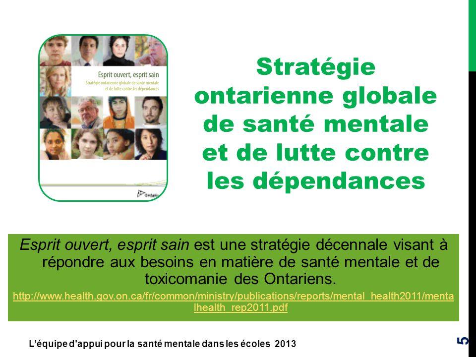 Stratégie ontarienne globale de santé mentale et de lutte contre les dépendances