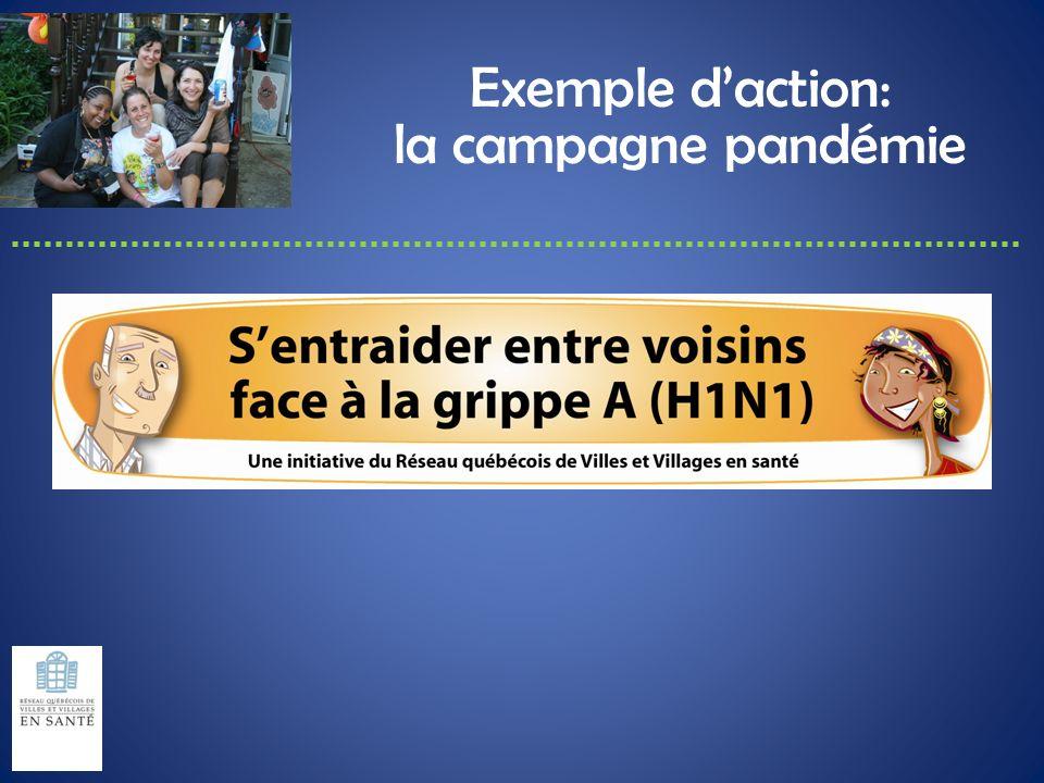 Exemple d'action: la campagne pandémie