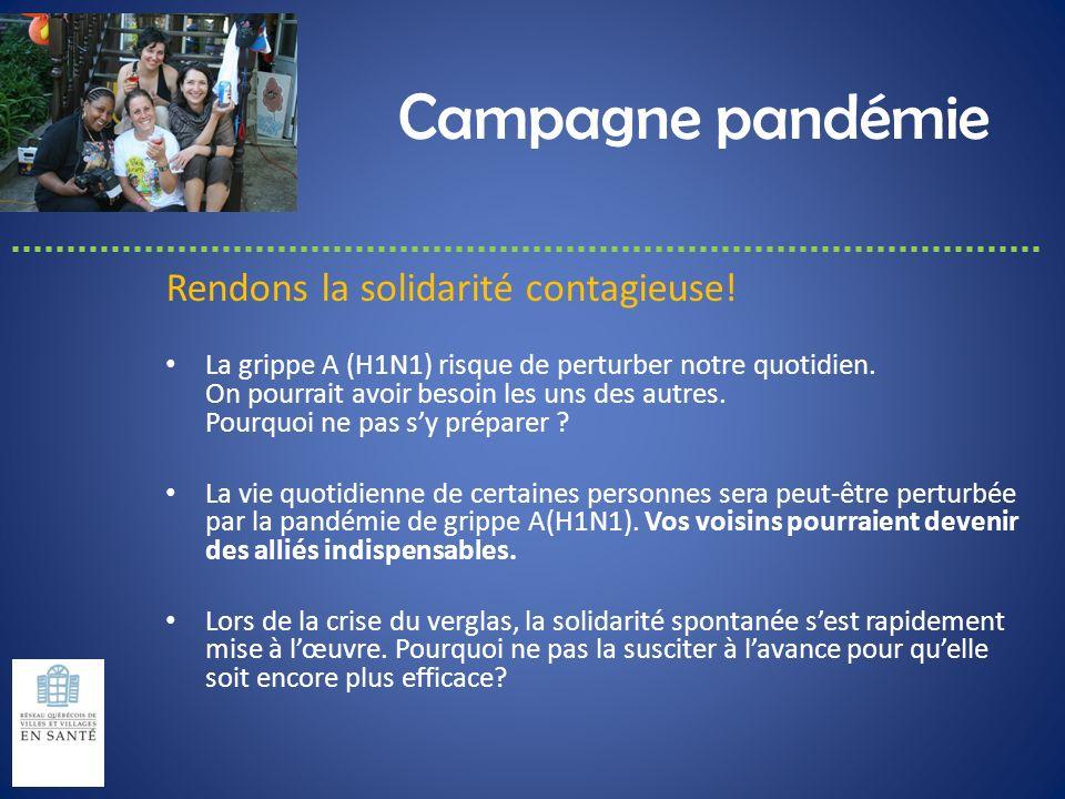 Campagne pandémie Rendons la solidarité contagieuse!