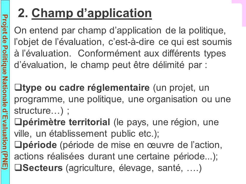 2. Champ d'application