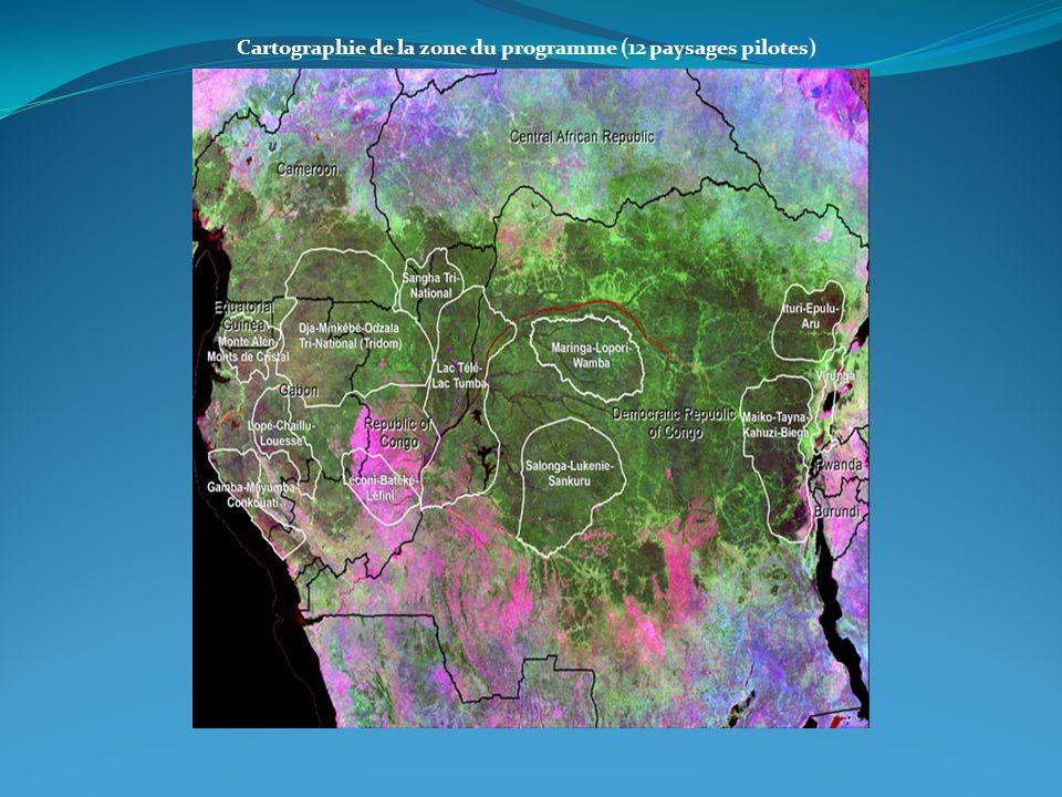 Cartographie de la zone du programme (12 paysages pilotes)