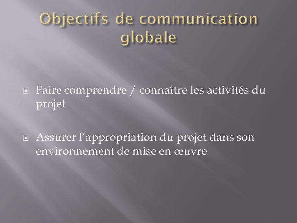 Objectifs de communication globale