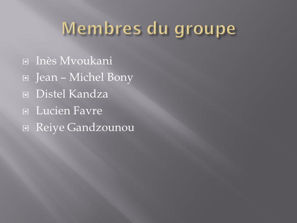 Membres du groupe Inès Mvoukani Jean – Michel Bony Distel Kandza
