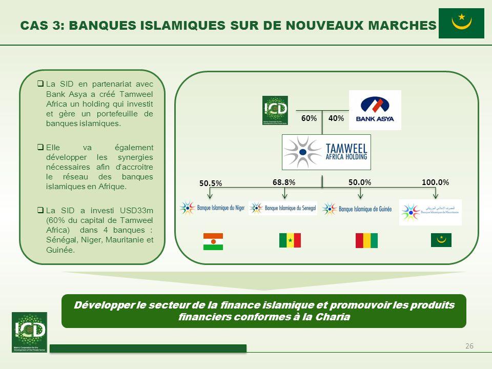 CAS 3: BANQUES ISLAMIQUES SUR DE NOUVEAUX MARCHES
