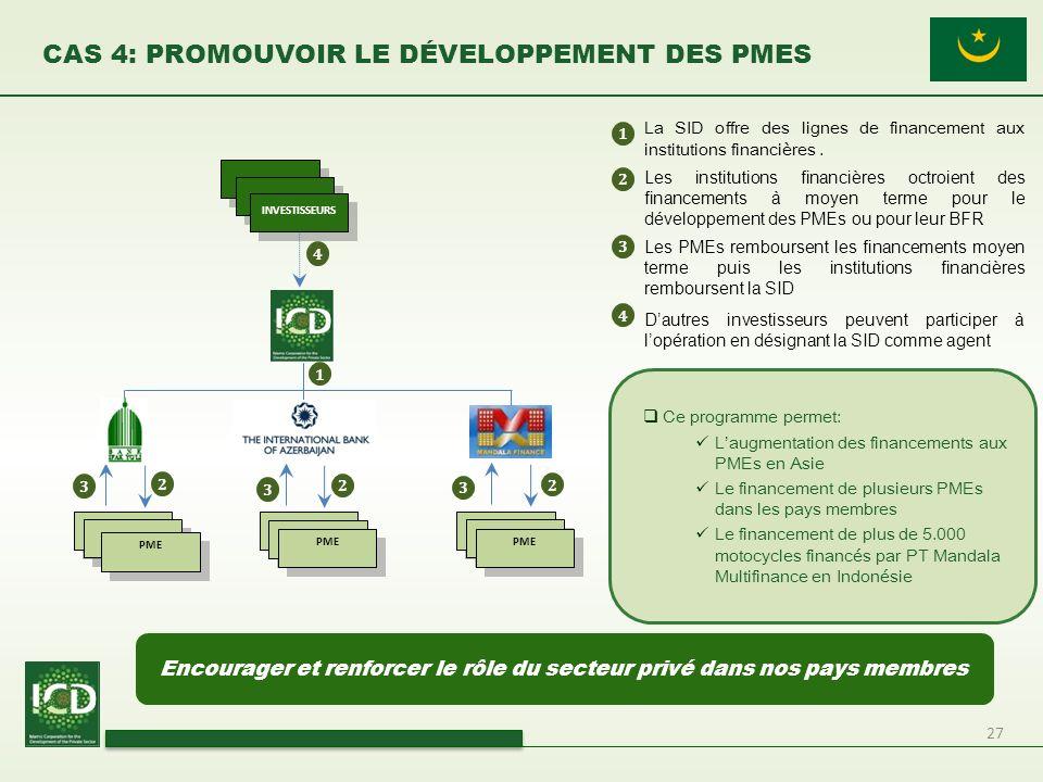 CAS 4: Promouvoir le Développement des PMEs