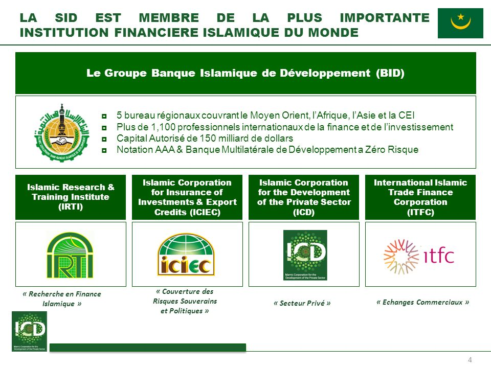 LA SID EST MEMBRE DE LA PLUS IMPORTANTE INSTITUTION FINANCIERE ISLAMIQUE DU MONDE