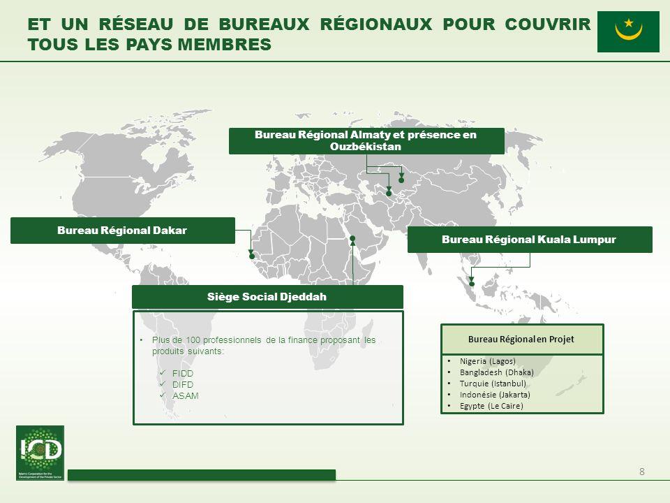 Et Un réseau de bureaux régionaux pour couvrir tous les pays membres