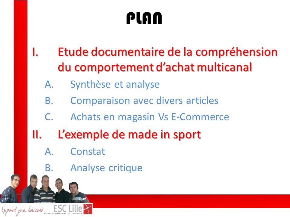 PLAN Etude documentaire de la compréhension du comportement d'achat multicanal. Synthèse et analyse.