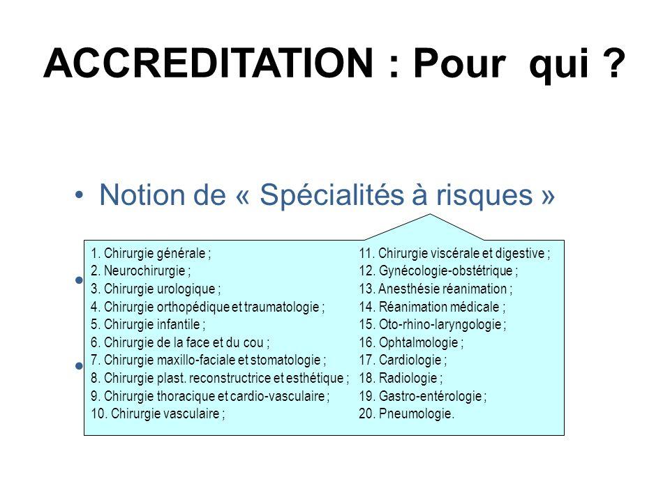 ACCREDITATION : Pour qui