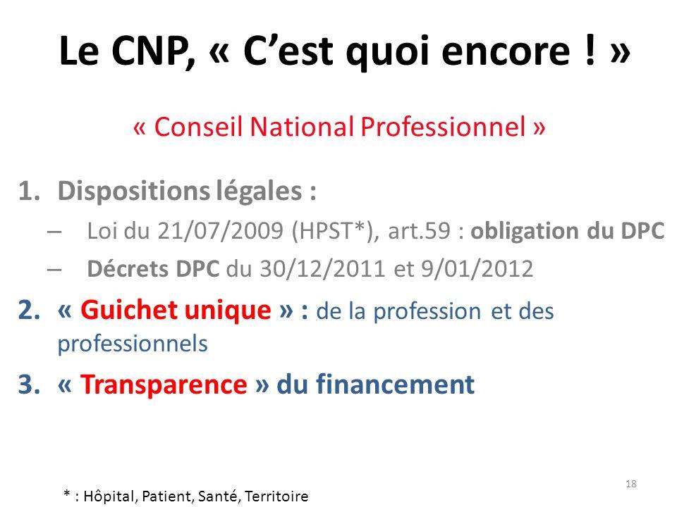 Le CNP, « C'est quoi encore ! »
