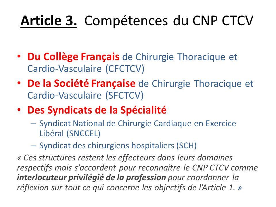 Article 3. Compétences du CNP CTCV