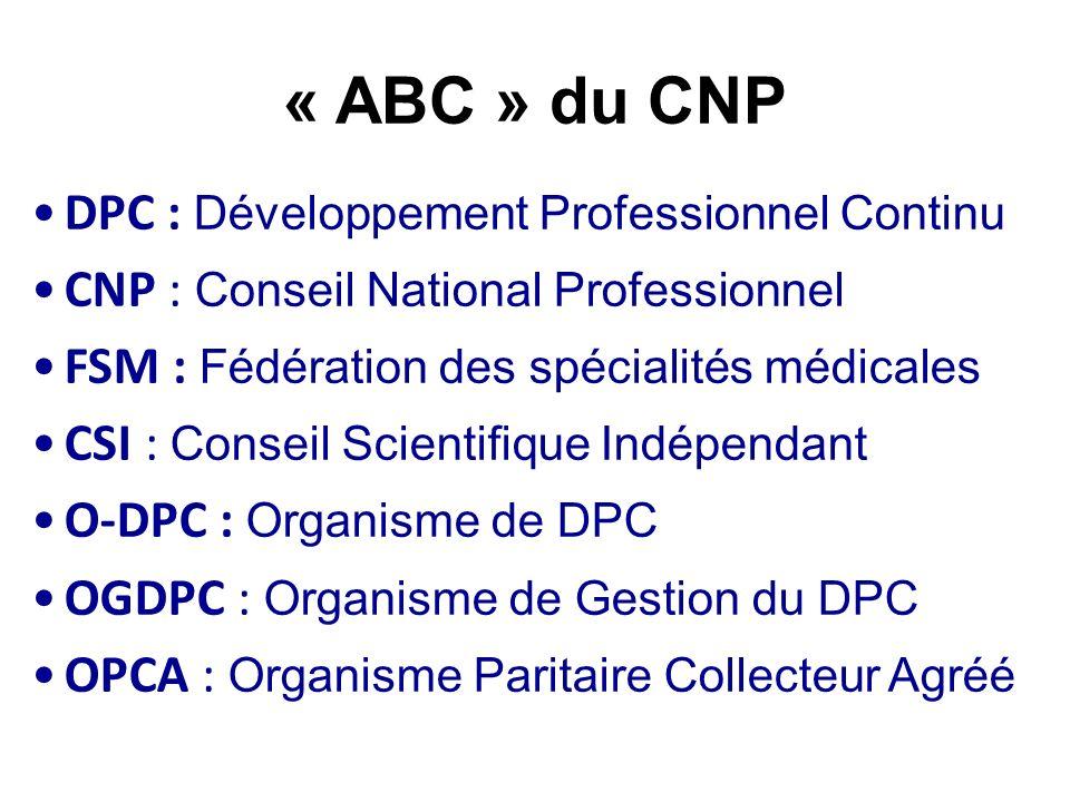 « ABC » du CNP DPC : Développement Professionnel Continu