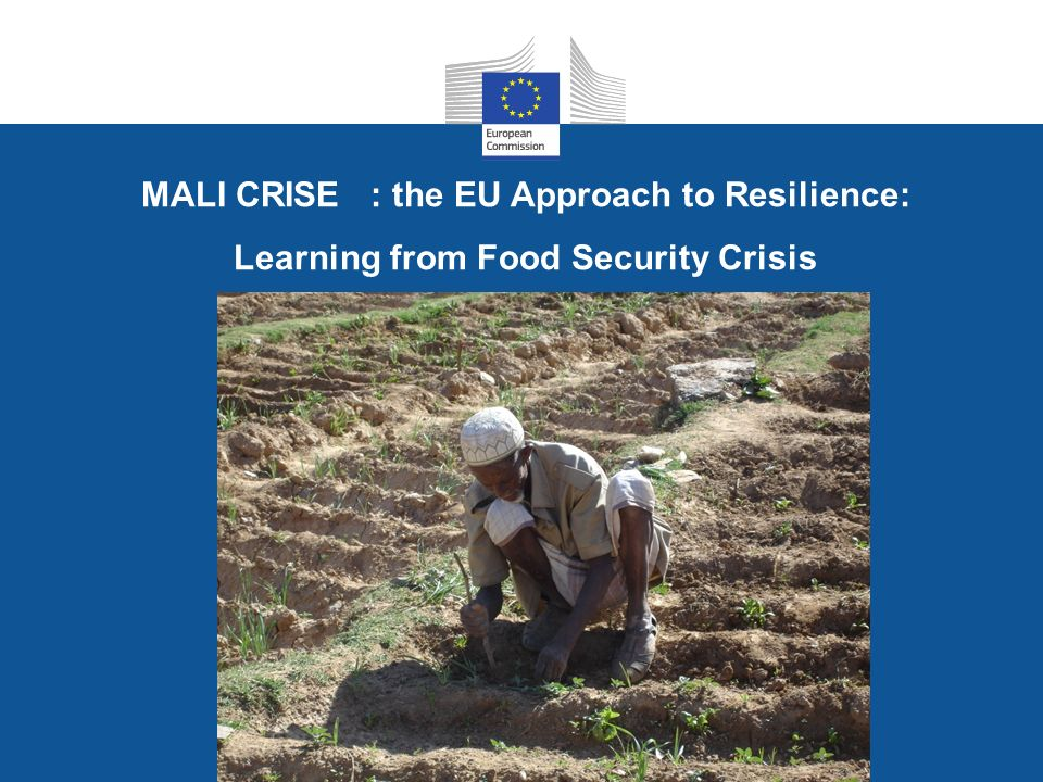 MALI CRISE : the EU Approach to Resilience: