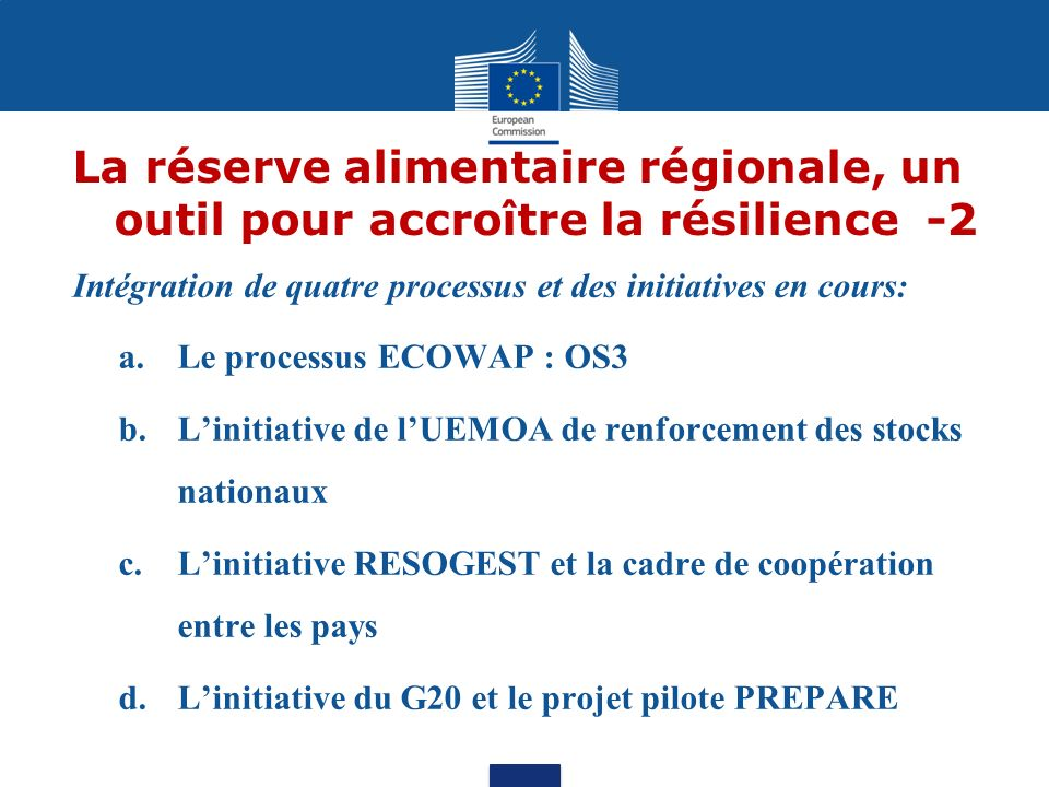 La réserve alimentaire régionale, un outil pour accroître la résilience -2