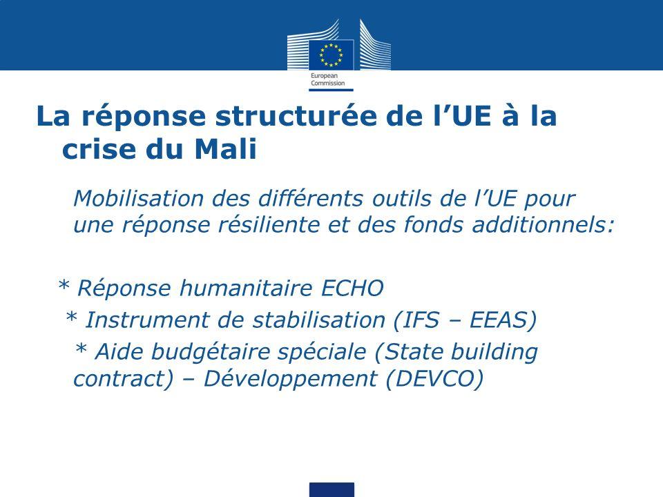 La réponse structurée de l'UE à la crise du Mali