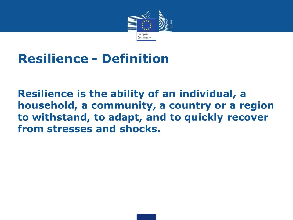 Resilience - Definition