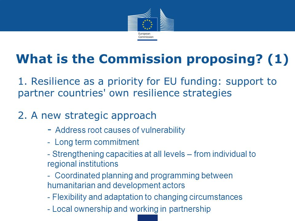 What is the Commission proposing (1)