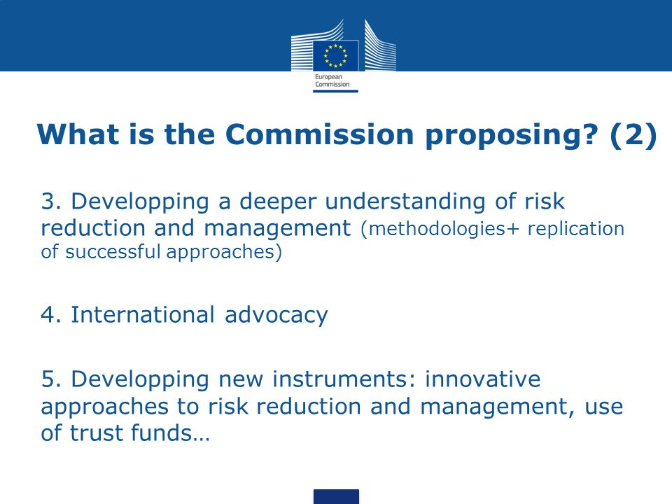 What is the Commission proposing (2)