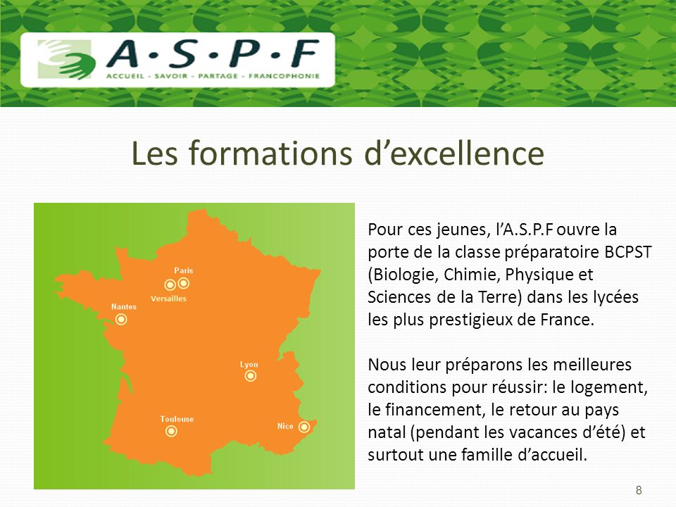Les formations d'excellence