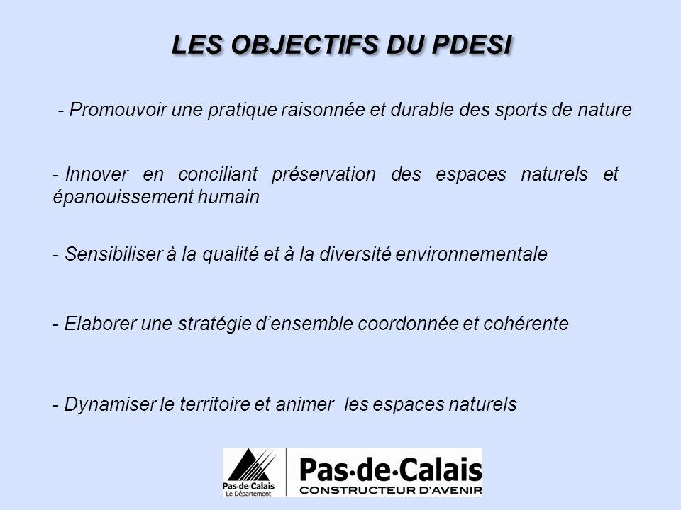 LES OBJECTIFS DU PDESI - Promouvoir une pratique raisonnée et durable des sports de nature.