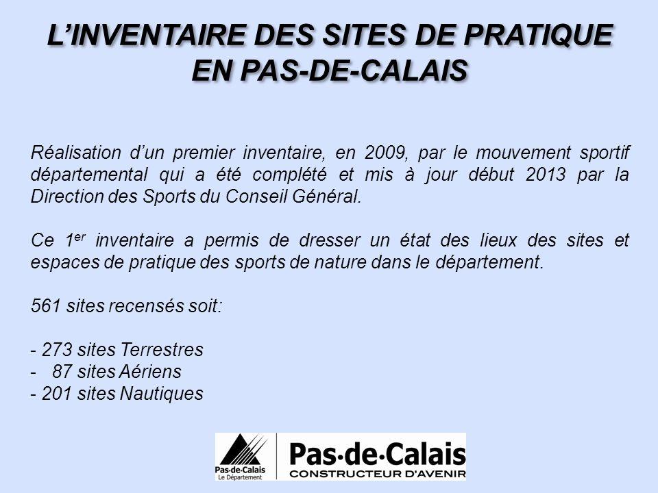 L'INVENTAIRE DES SITES DE PRATIQUE EN PAS-DE-CALAIS