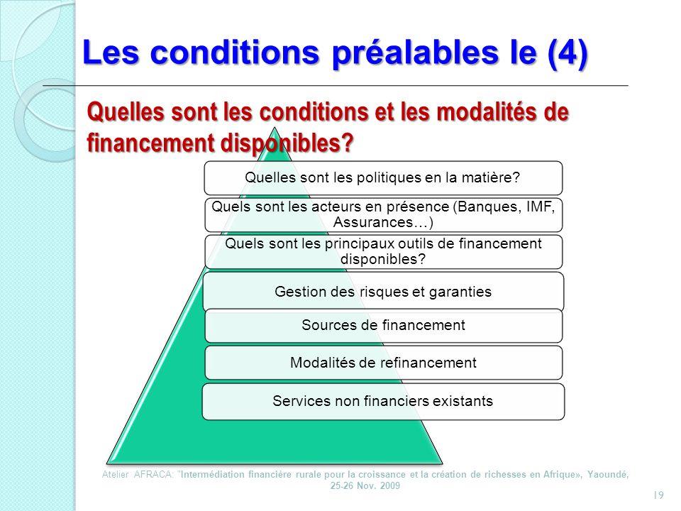 Les conditions préalables le (4)