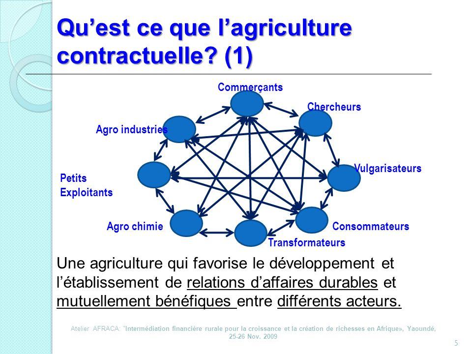 Qu'est ce que l'agriculture contractuelle (1)