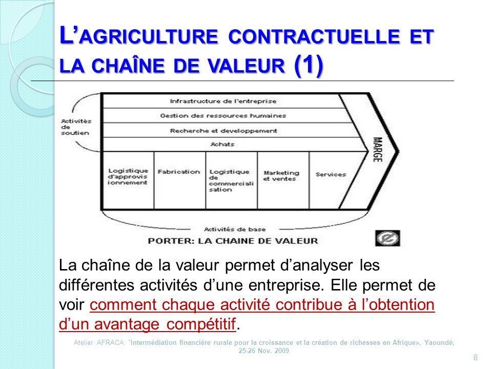 L'agriculture contractuelle et la chaîne de valeur (1)