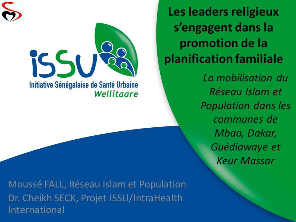 Les leaders religieux s'engagent dans la promotion de la planification familiale