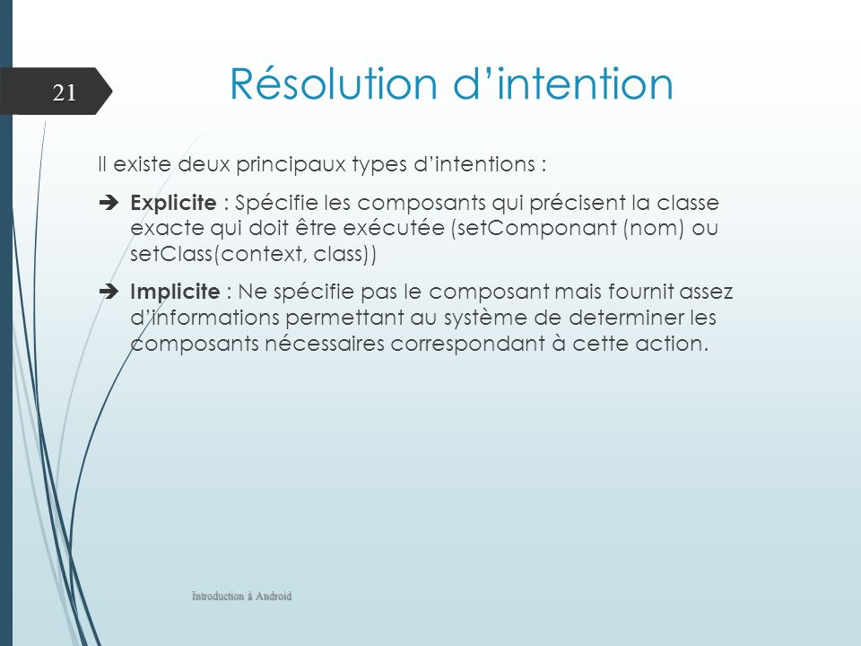 Résolution d'intention