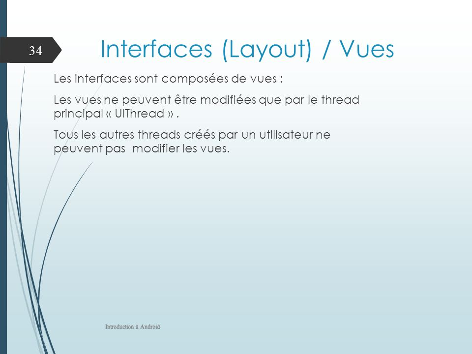 Interfaces (Layout) / Vues