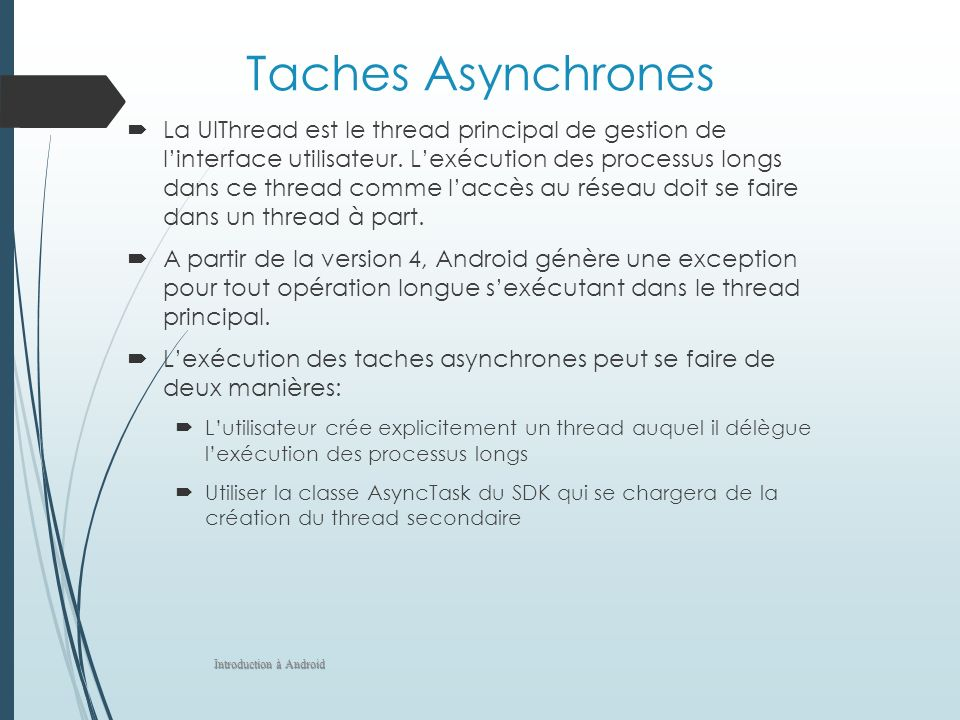 Taches Asynchrones