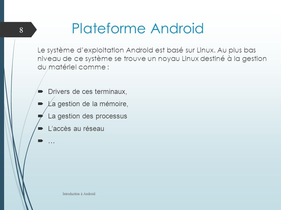 Plateforme Android