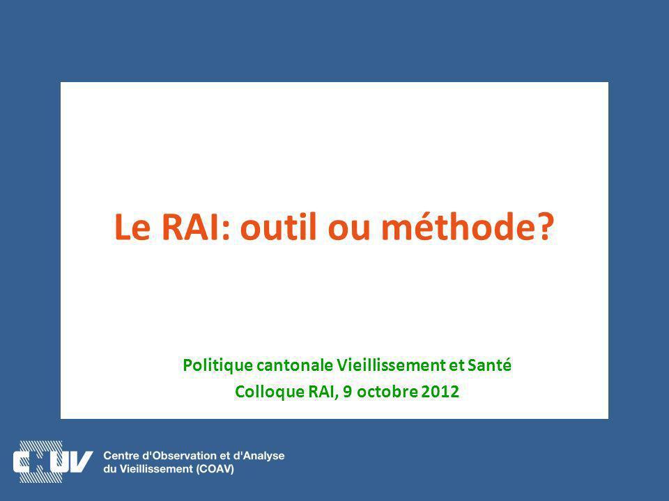 Le RAI: outil ou méthode
