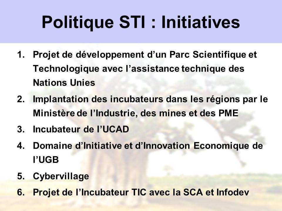 Politique STI : Initiatives