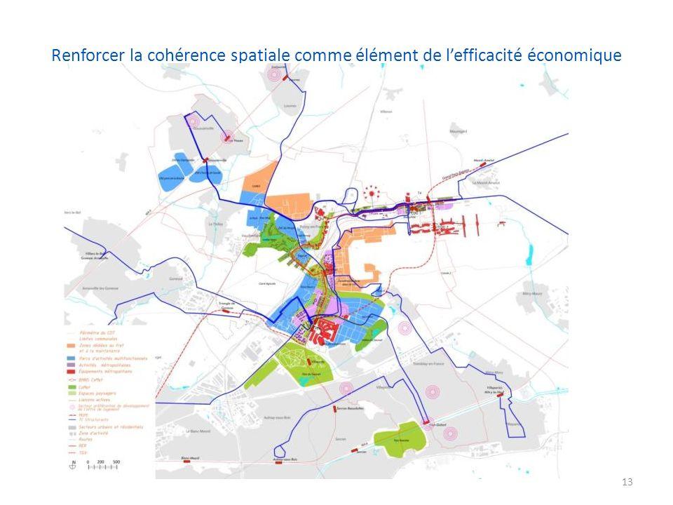 Renforcer la cohérence spatiale comme élément de l'efficacité économique