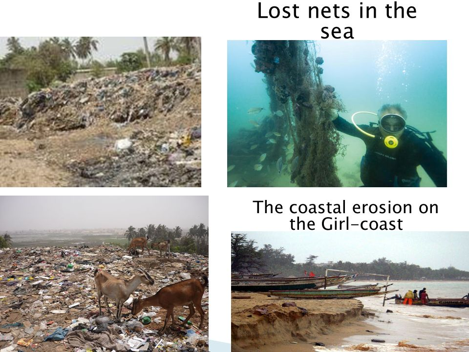 The coastal erosion on the Girl-coast
