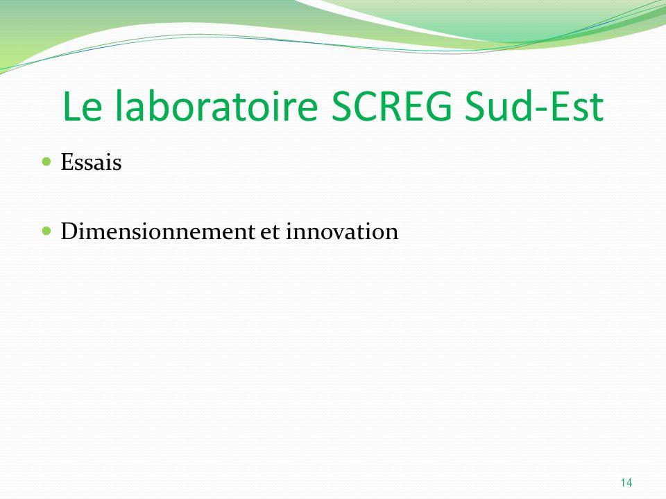 Le laboratoire SCREG Sud-Est