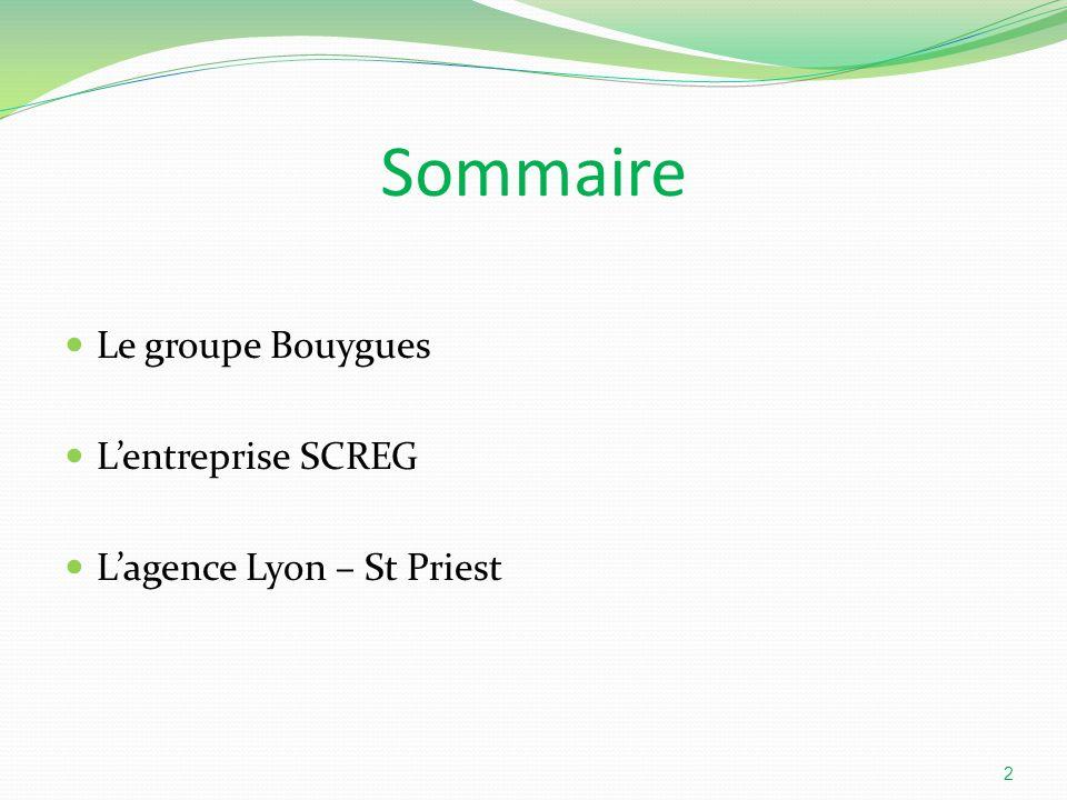 Sommaire Le groupe Bouygues L'entreprise SCREG