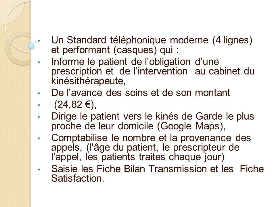 Un Standard téléphonique moderne (4 lignes) et performant (casques) qui :