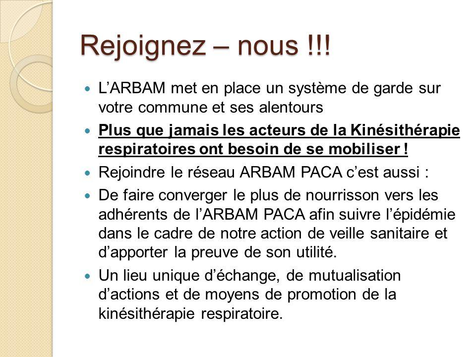 Rejoignez – nous !!! L'ARBAM met en place un système de garde sur votre commune et ses alentours.