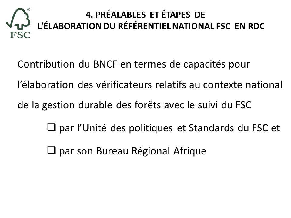 par l'Unité des politiques et Standards du FSC et