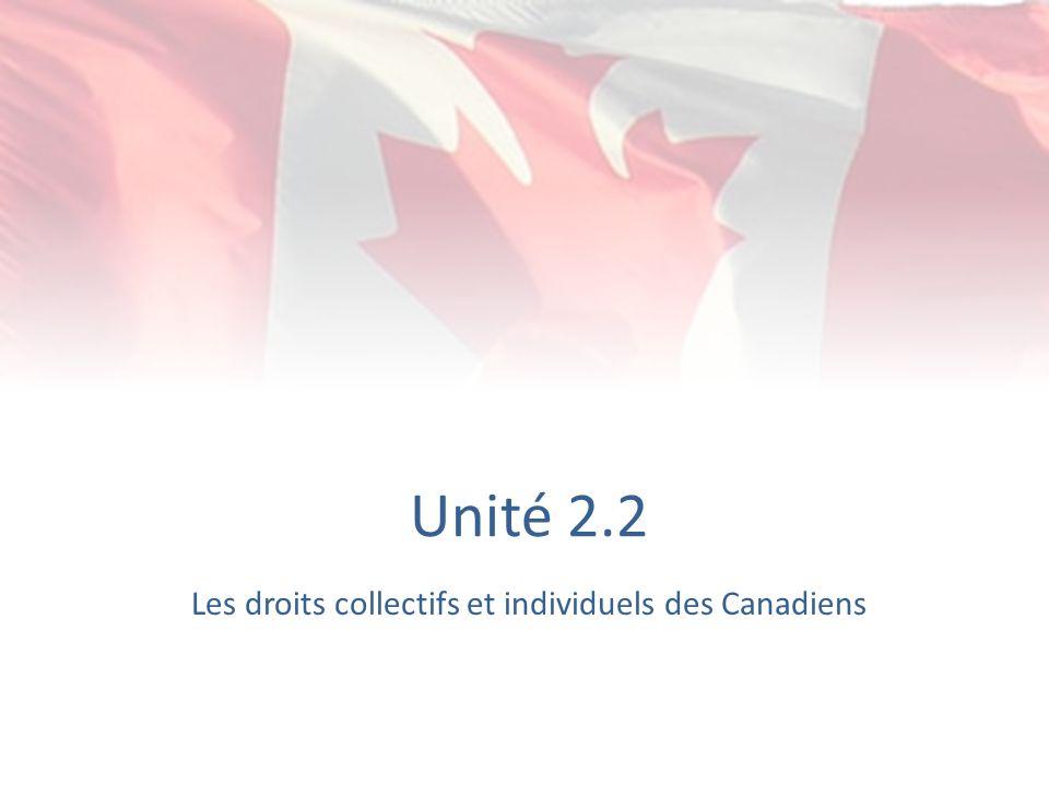 Les droits collectifs et individuels des Canadiens