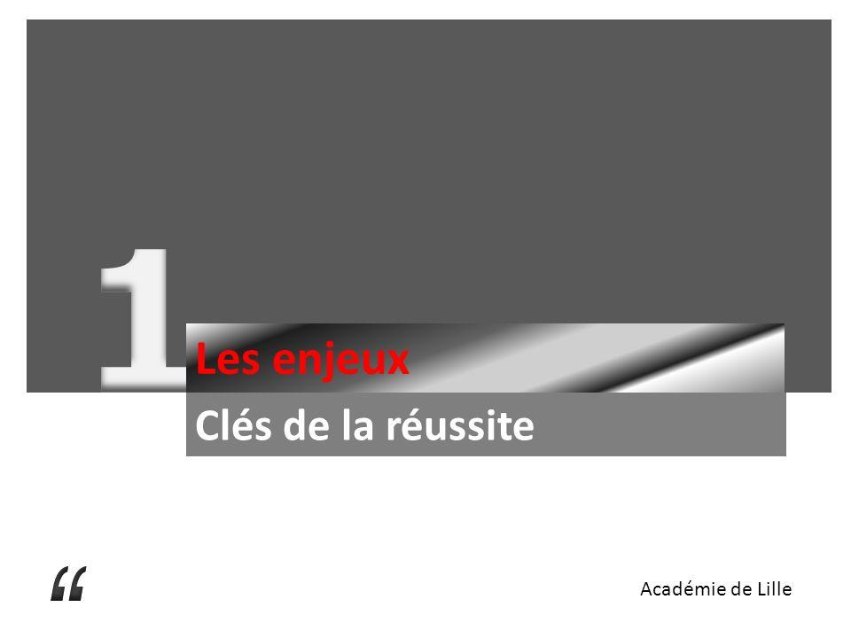 1 Les enjeux Clés de la réussite Académie de Lille