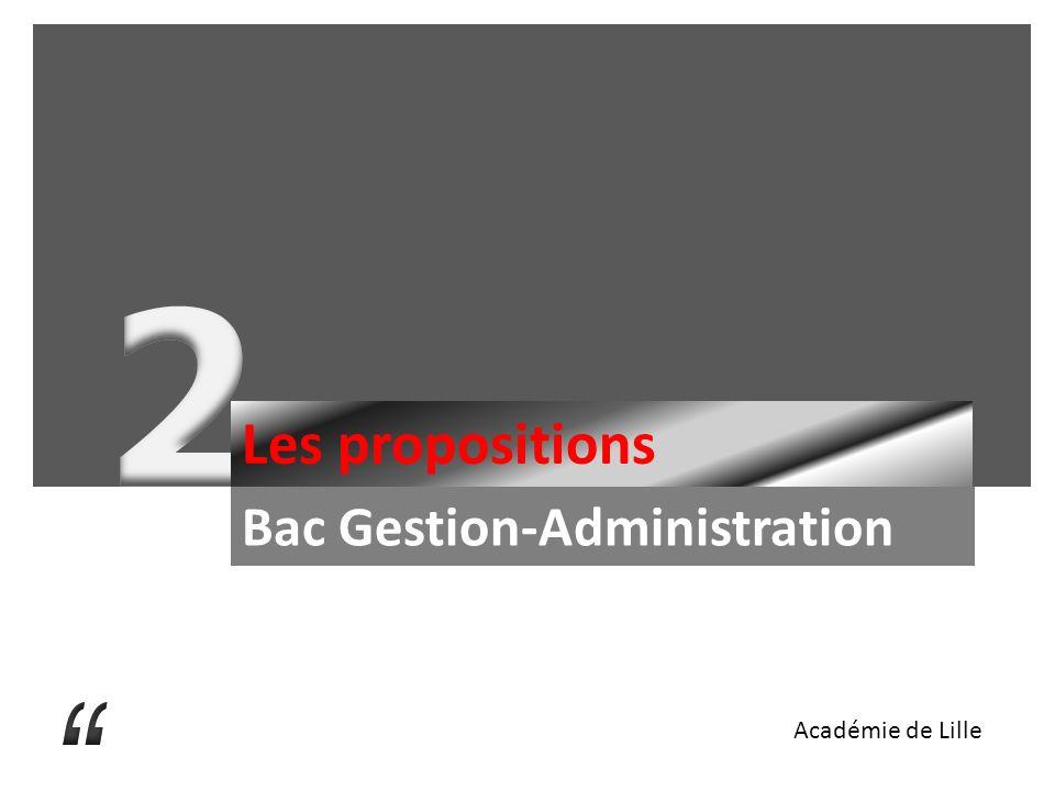 2 Les propositions Bac Gestion-Administration Académie de Lille