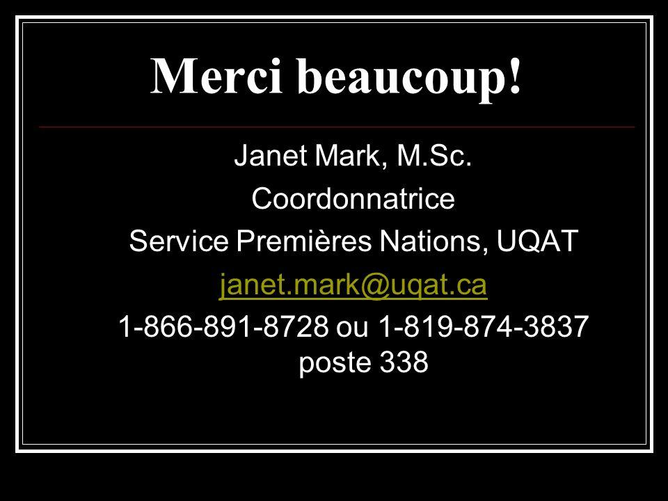 Service Premières Nations, UQAT